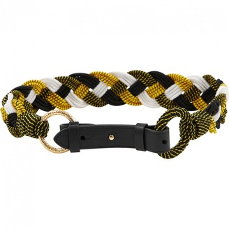 Diane von Furstenberg Yellow Cloth Belts