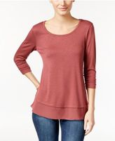 Style&Co. Style & Co Chiffon-Hem Top, Only at Macy's