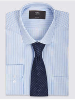 M&S Collection Easy to Iron Regular Fit Shirt with Tie