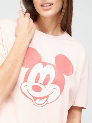 Very MickeyWashed Oversized T-Shirt - Pink