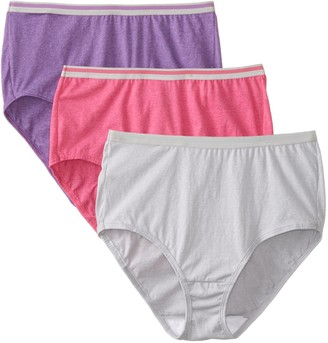 Fruit of the Loom Women's 3 Pack Heather Brief Panties