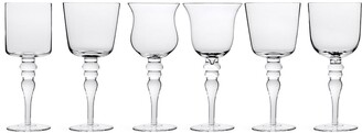 Bitossi Home Six Differently Shaped Wine Glasses