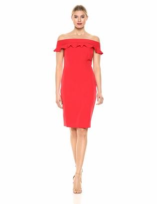 Eliza J Women's Off The Shoulder Ruffle Sheath Dress