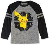 Pokemon Pikachu-Print T-Shirt, Big Boys (8-20)