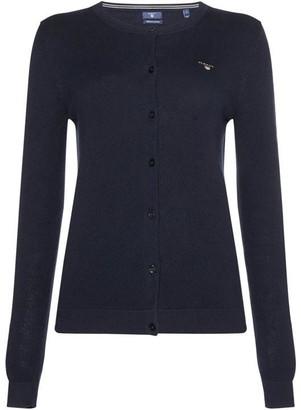 Gant Cotton Button Up Pique Cardigan