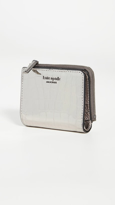 Kate Spade Sylvia Croc Embossed Small Bifold Wallet