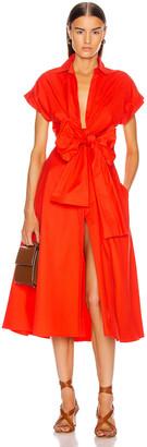 Silvia Tcherassi Sampuesana Dress in Scarlet   FWRD