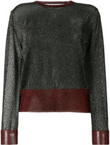 Zoe Karssen cropped fit lurex pullover