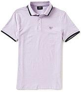 Giorgio Armani Pastel Tipped Slim-Fit Short-Sleeve Polo Shirt