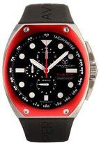Avio Men's SA AC 2001 Super Tonneau Stainless Steel Case Aluminum Interchangeable Bezel Luminous Chrono Tachymeter Watch