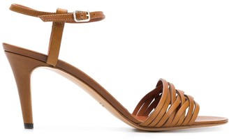 Michel Vivien Woven Upper Sandals