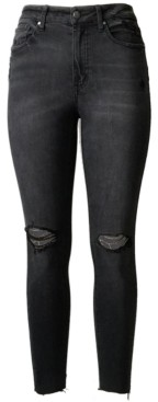 Tinseltown Juniors' High Rise Real Lift Ripped Skinny Jeans