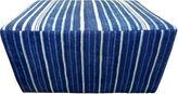 One Kings Lane Vintage Mali Striped Indigo Blues Ottoman