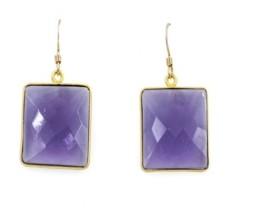 Roberta Sher Designs 14k Gold Filled Semiprecious Stone Bezel Set Single Drop Earring
