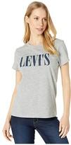 Levi's Womens Womens The Perfect Tee (Core Housemark Smokestack Heather) Women's Clothing