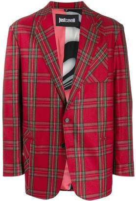 Just Cavalli tartan print blazer