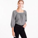 J.Crew Tall Penny top in microgingham