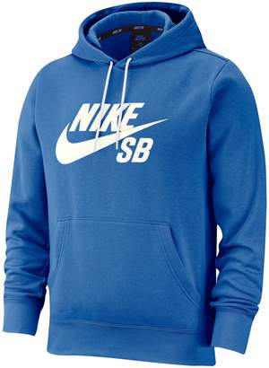 Nike Sb Logo Cotton-Blend Fleece Hoodie