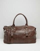 Barney's Originals Barneys Leather Explorer Holdall In Brown