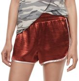 Fire Juniors' Contrast Trim Satin Shorts