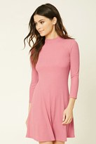 Forever 21 FOREVER 21+ Ribbed Mock Neck Dress