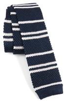 Paul Smith Men's Stripe Knit Silk Skinny Tie