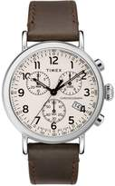 Timex Standard Chronograph Men's Brown Leather Strap Watch
