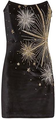 retrofete Embellished Strapless Dress