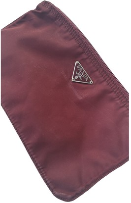 Prada Burgundy Polyester Clutch bags