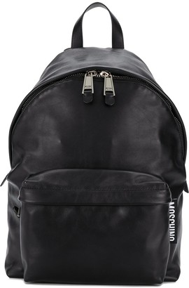 Moschino Leather Zip Backpack