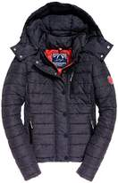 Superdry Short Hooded Padded Jacket with Pockets