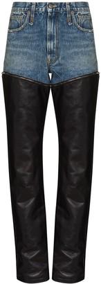 R 13 Axl layered straight-leg jeans