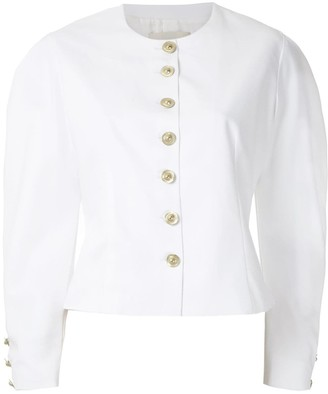 Framed Buttons wide sleeves blazer