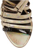 Antonio Berardi + Rupert Sanderson Sonnet holographic leather sandals