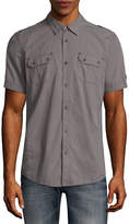 i jeans by Buffalo Short Sleeve Stripe Button-Front Shirt