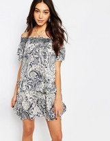 Vila Ruffle Bardot Dress