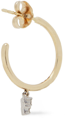 Adina Reyter Amigos 14-karat Gold, Sterling Silver And Diamond Hoop Earrings