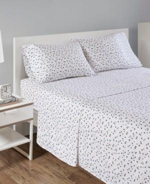 Intelligent Design Novelty Print Cotton Flannel Twin Sheet Set Bedding