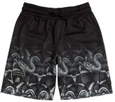 Marcelo Burlon County of Milan Snakes Print Doubled Acetate Shorts