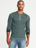 Old Navy Soft-Washed Built-In Flex Thermal Henley for Men