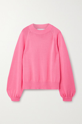 I Love Mr Mittens Oversized Cotton Sweater - Bubblegum