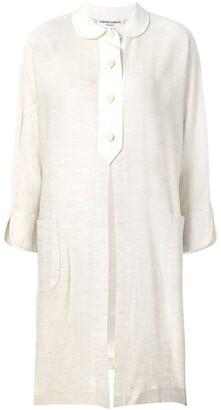 Front Slit Midi Shirt