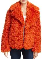KENDALL + KYLIE Cropped Faux Fur Coat