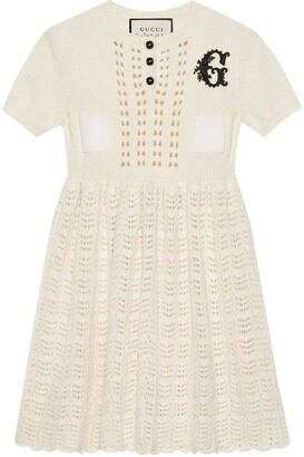 Gucci G motif knitted dress