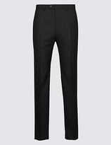 M&S Collection Tailored Fit Pure Wool Flat Front Trousers