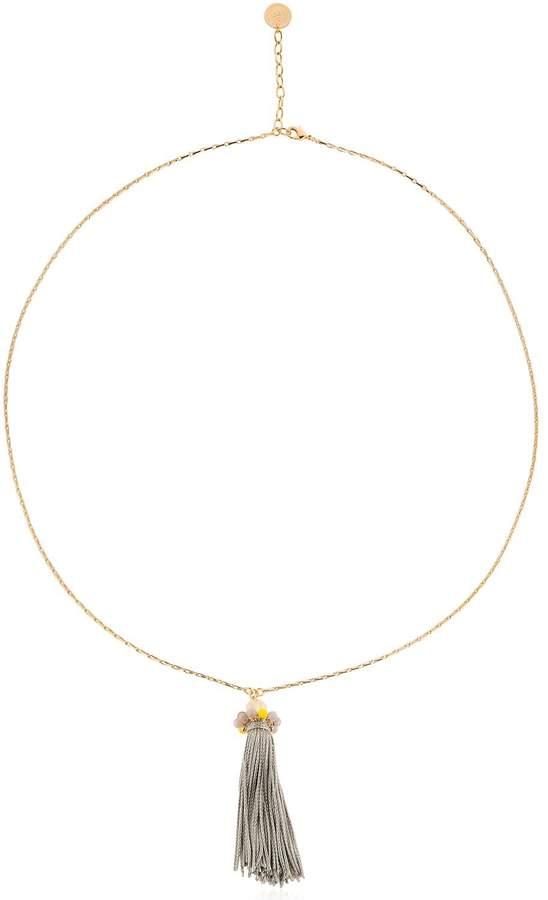 Anton Heunis Color Block Long Tassel Pendant Necklace