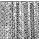 Bed Bath & Beyond Stained Glass 72-Inch x 84-Inch Shower Curtain in Black/White