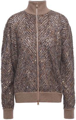 Brunello Cucinelli Sequin-embellished Knitted Jacket