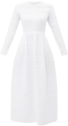 Elke Sir Broderie-anglaise Cotton Dress - Womens - White