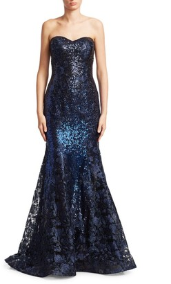 Rene Ruiz Collection Strapless Mermaid Gown